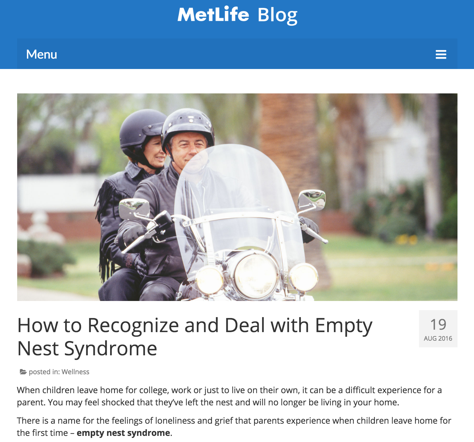 How to Recognize and Deal with Empty Nest Syndrome